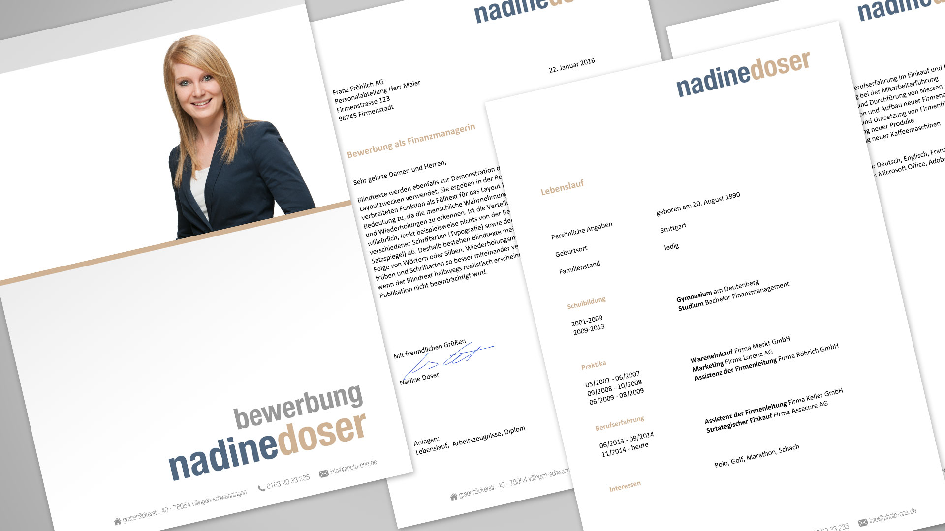 Photo One Bewerbung Mit Word Datei Photo One